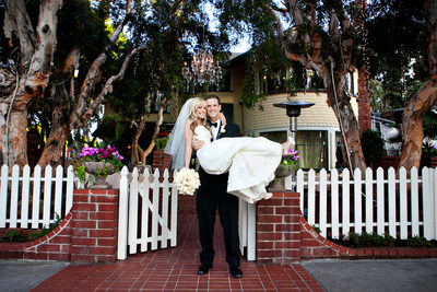 bride groom Victorian Santa Monica