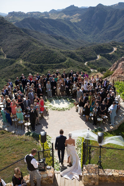 Malibu Rocky Oaks Estate Vineyards Wedding Ceremony