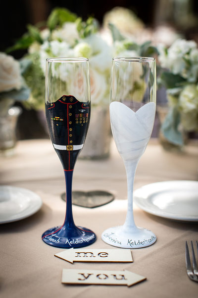 custom champagne glasses