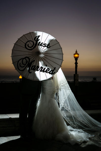 Huntington Beach Wedding Photography nightshot
