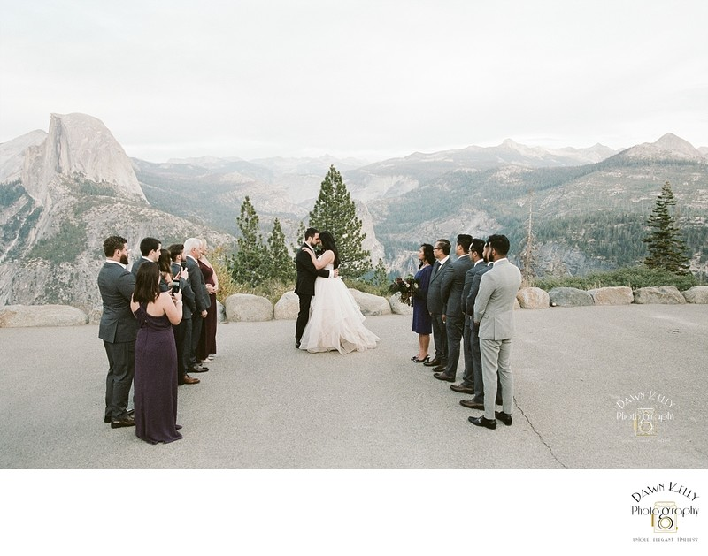 Glacier Point wedding ceremony