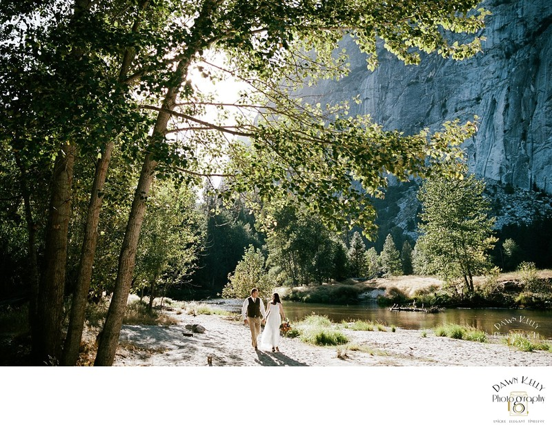 Spring Yosemite elopement at Sentinel Beach