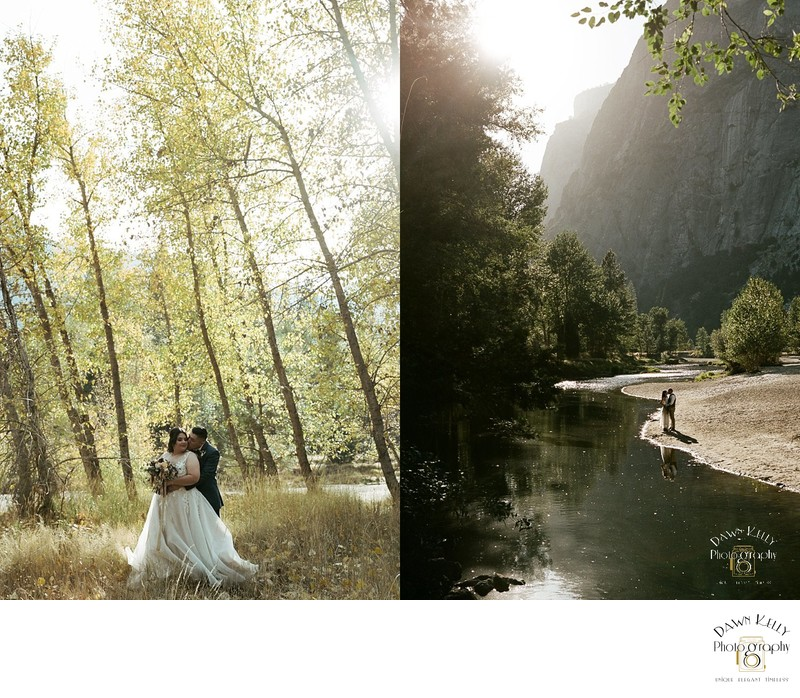 Fall elopement at Swinging Bridge