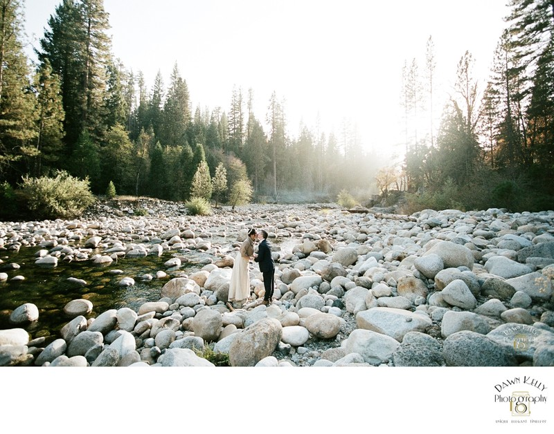 Riverbed elopement in Yosemite National Park