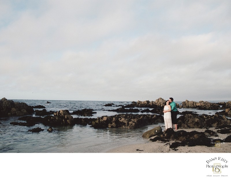Monterey elopement bride groom portraits