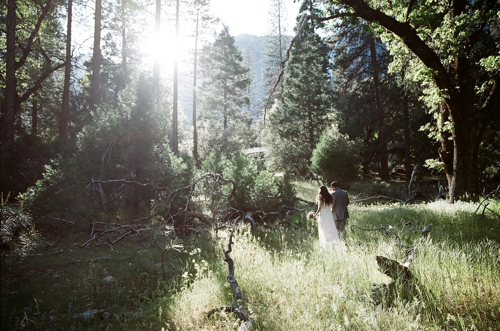 Northern California engagement session in the woods