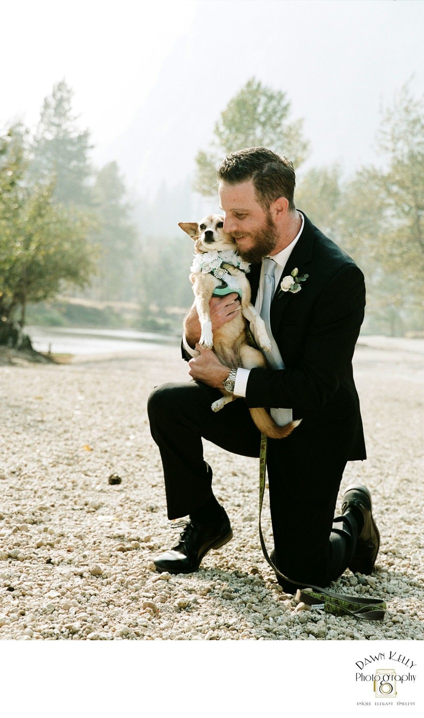 Yosemite groom with his dog