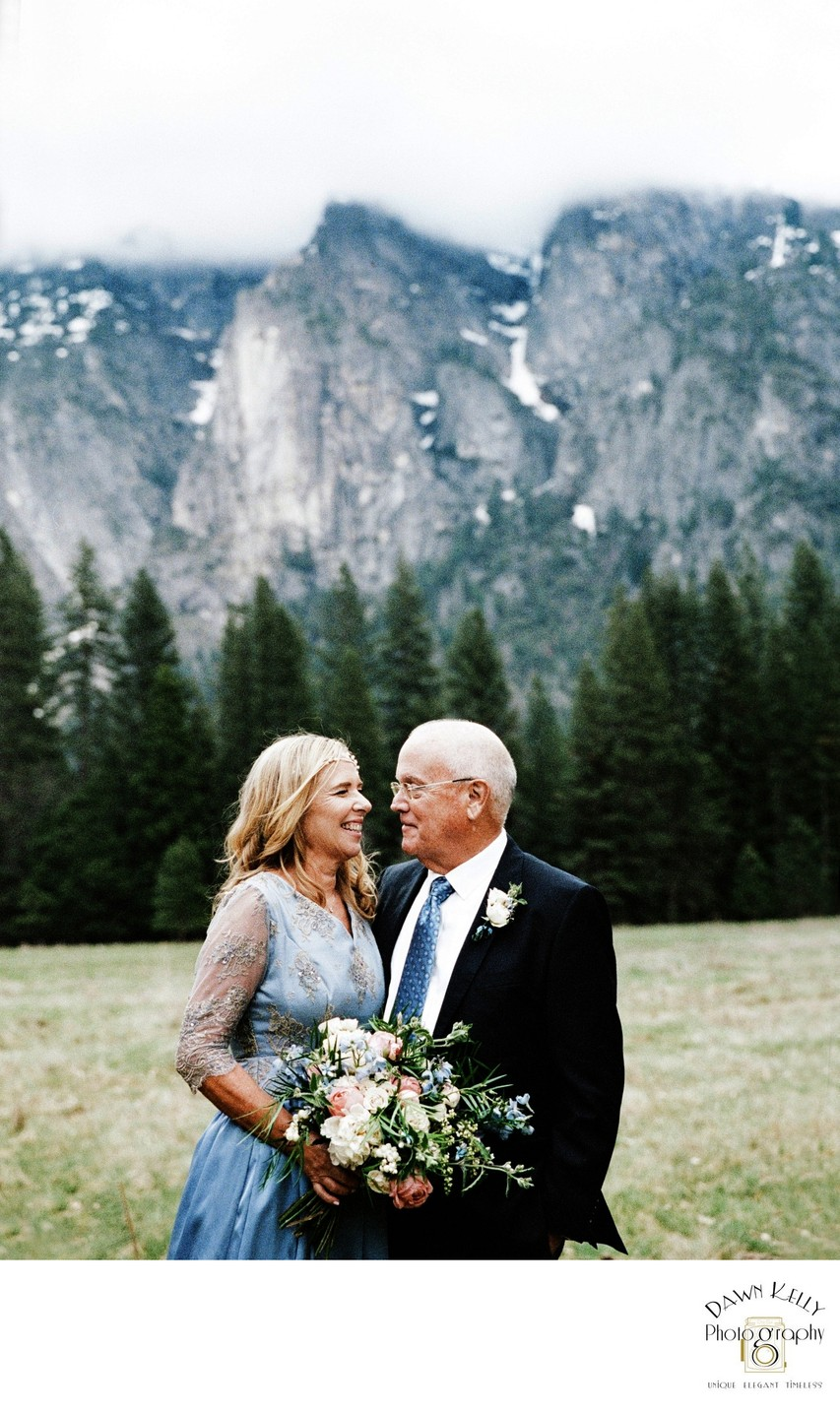Mature couple Yosemite elopement 2