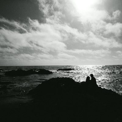 Monterey engagement photo silhouette