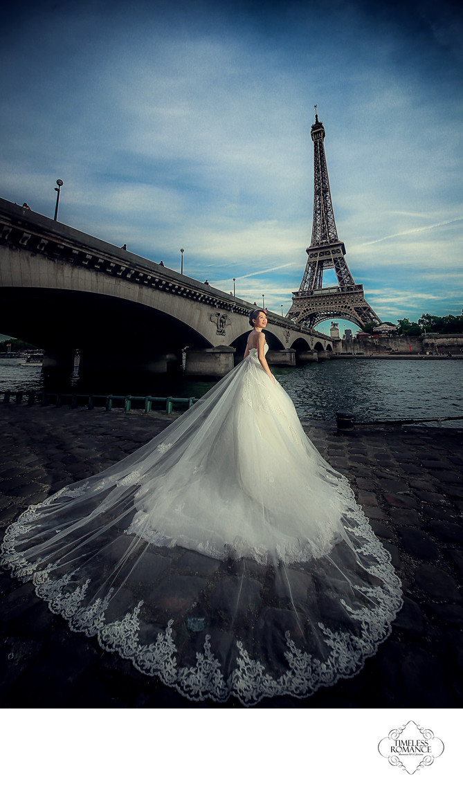 Bride By The River Seine