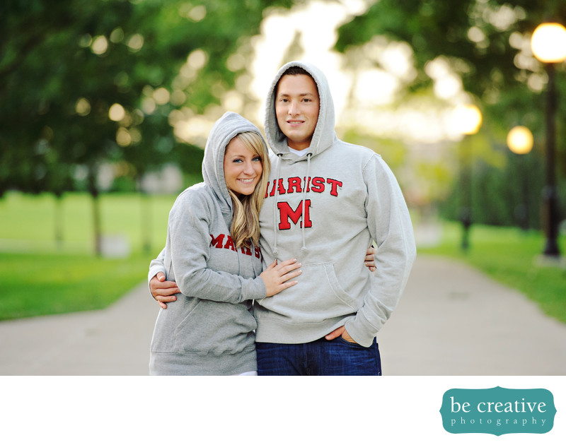 Marist College ny engagement photos wedding photographer