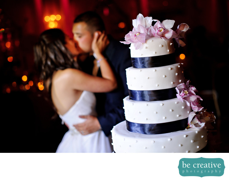 Crystal Plaza NJ Wedding Photo Cake Bride Groom Kiss