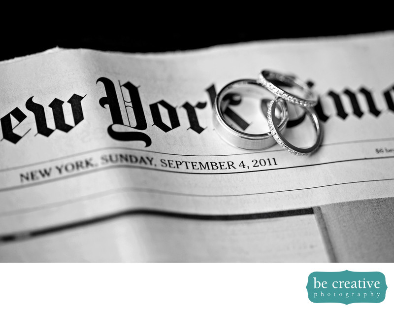 New york times rings photos wedding photographs