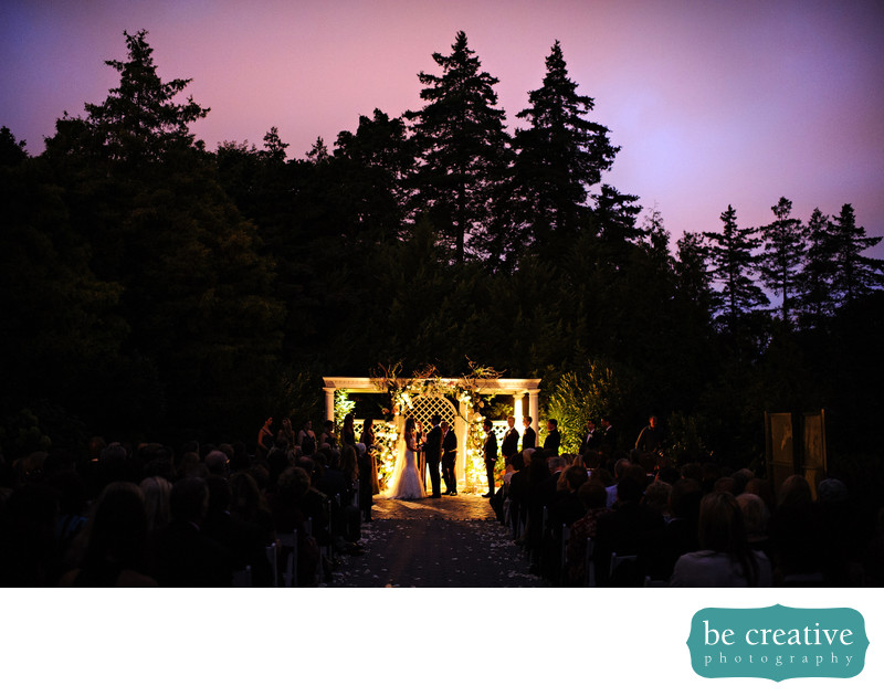 ny botanical gardens wedding photo outdoor ceremony