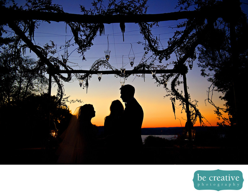 tappan hill mansion new york wedding photos sunset ceremony