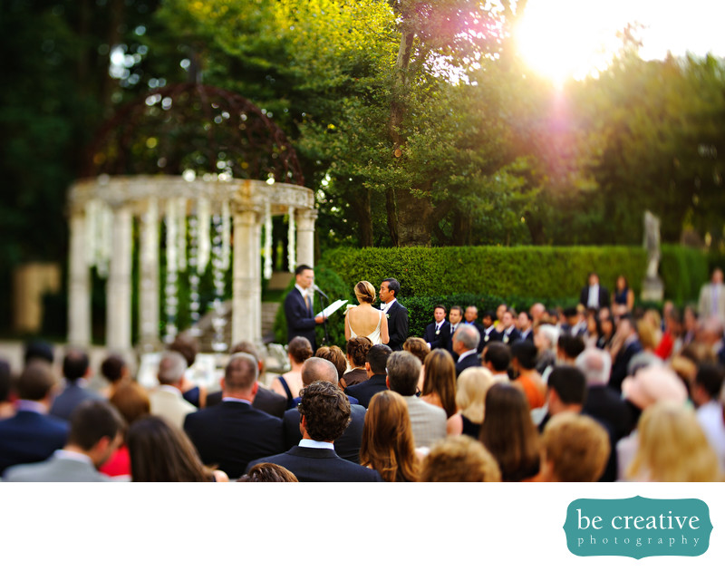 Oheka Castle NY Wedding Photo Outdoor Ceremony