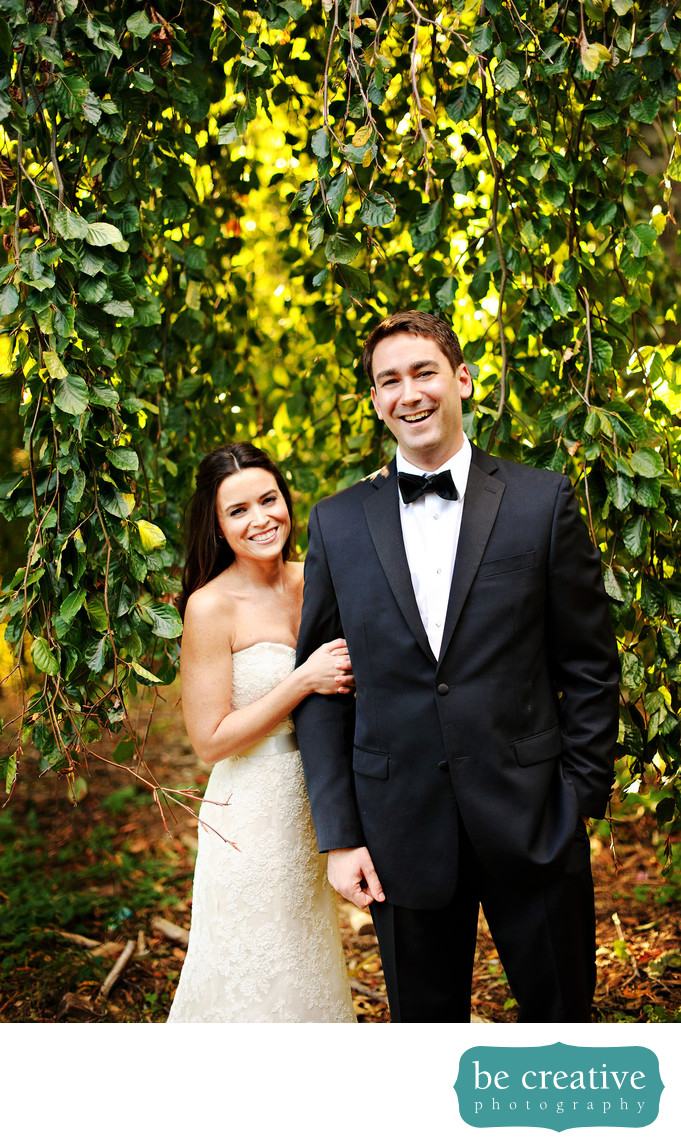 tappan hill mansion wedding photo bride groom portrait