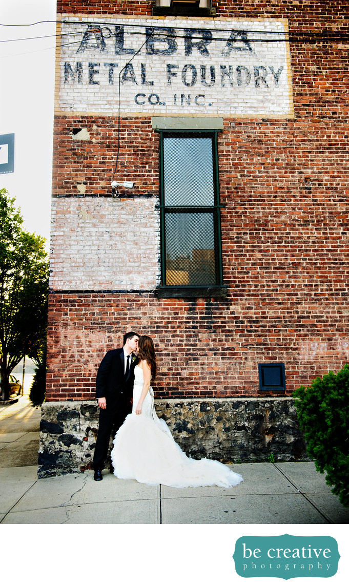 The Foundry Brooklyn NY Wedding Photo Bride and Groom