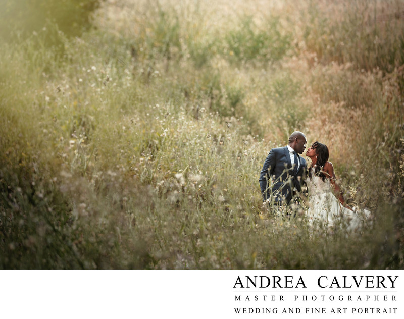 Midlothian Texas Wedding Photographer Bride Groom Field