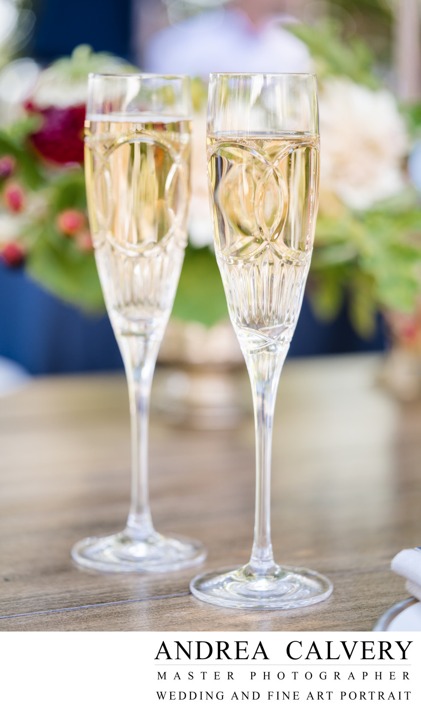 Best Dallas Wedding Photographer Champagne Glasses