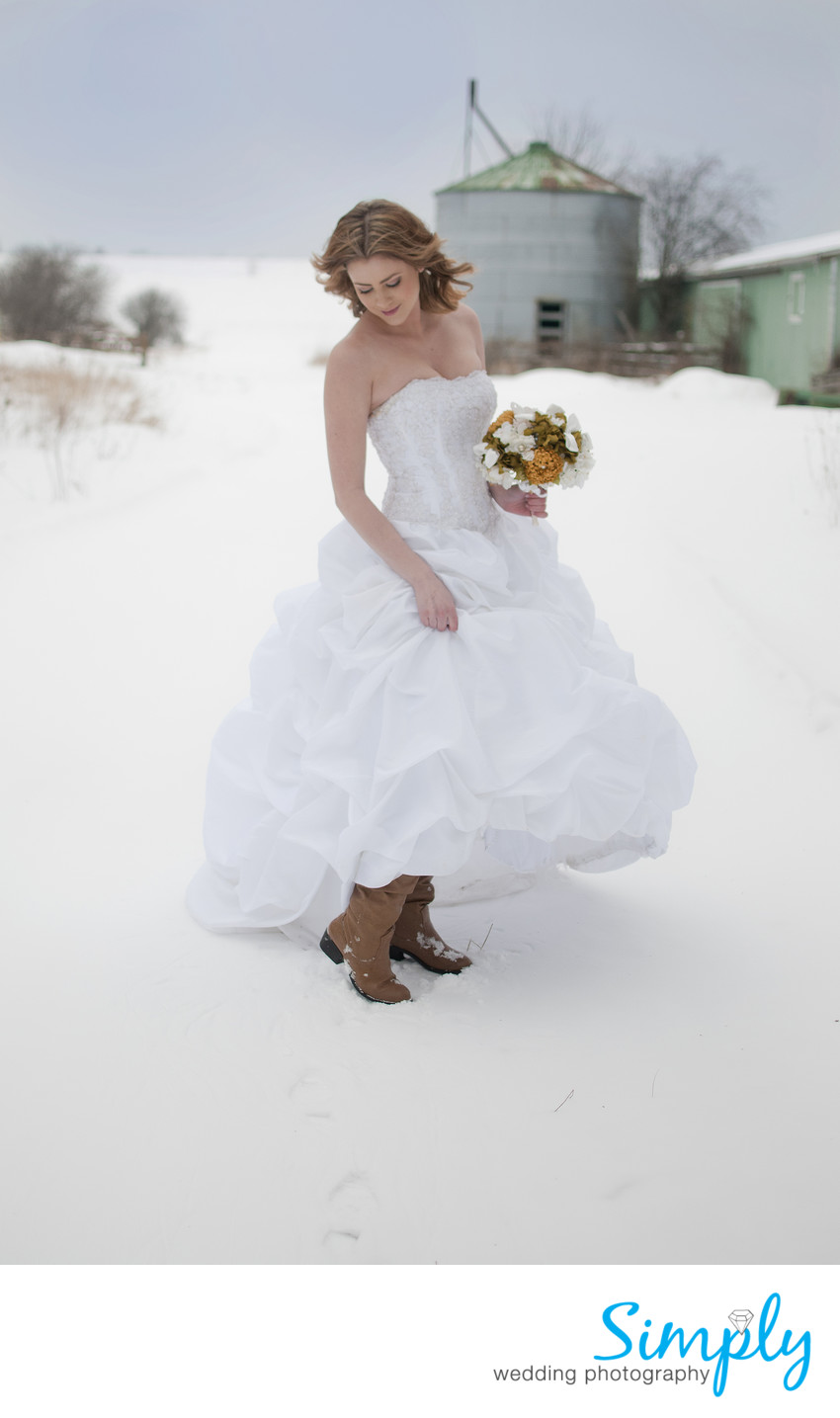 Wedding Dress in the Cold