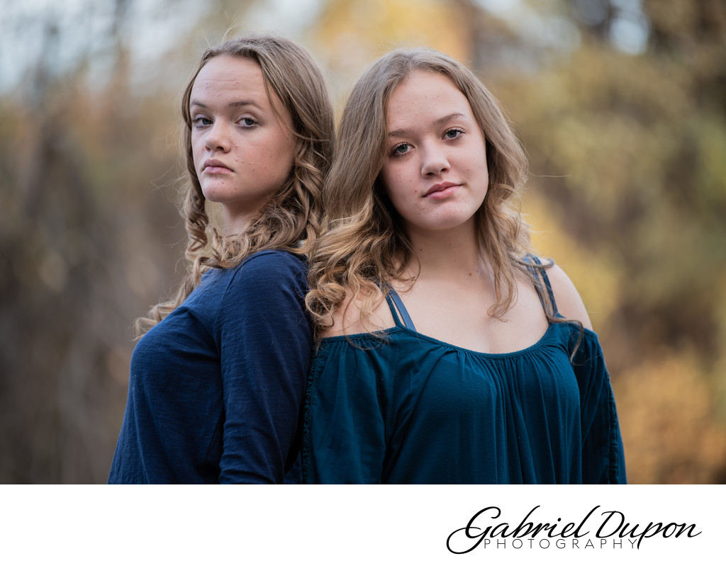 Intense Sisters Portrait