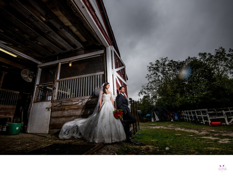 Creative Barn Wedding Photographer