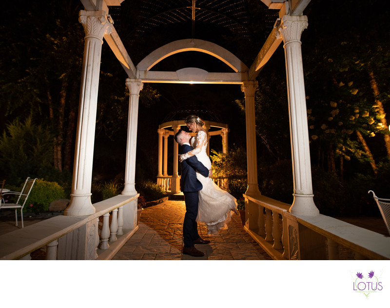 Bride and Groom Night Time Photos at Giorgio's