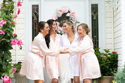 Bridemaids in Robes - Giorgio's Wedding Photographer