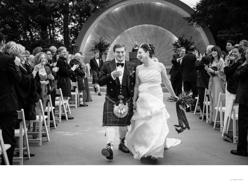 Westchester Country Club | Band Shell wedding ceremony