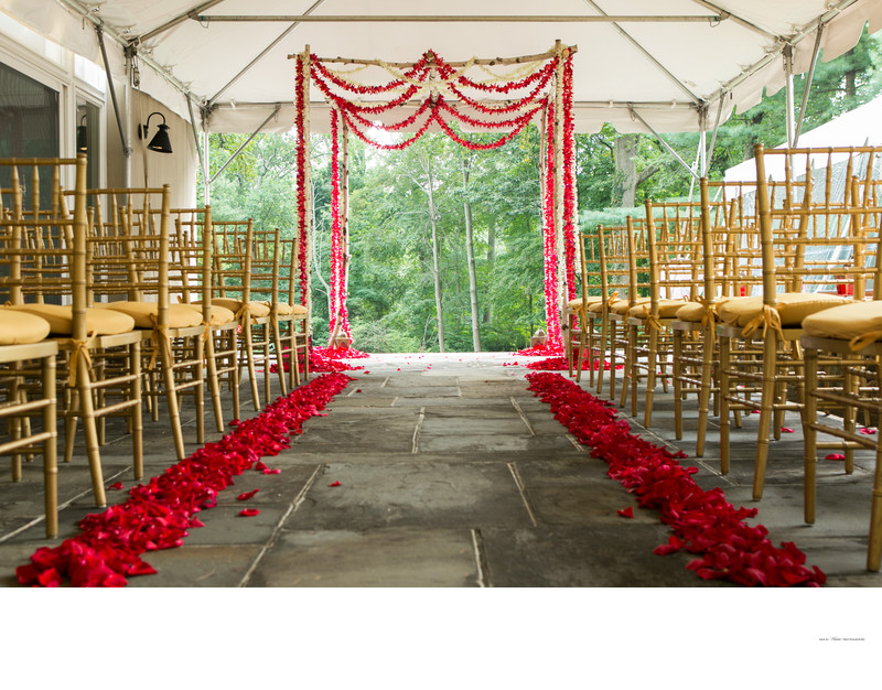 Indian Jewish Wedding | orchid & rose petal Chuppah