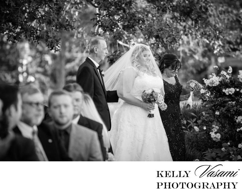 Parents Walk Bride Down The Aisle | Outdoor Ceremony