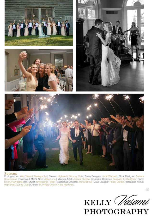 fireworks wedding highlands country club published