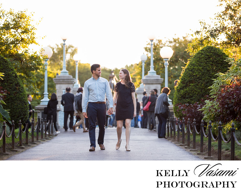 Boston Commons Garden Engagement Session