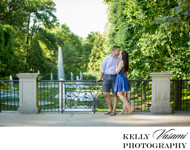 Longwood Gardens Summer Engagement Session