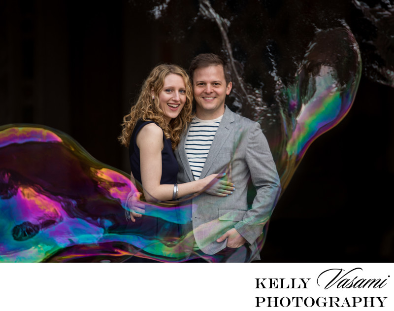 Central Park Bubbles Engagement Session