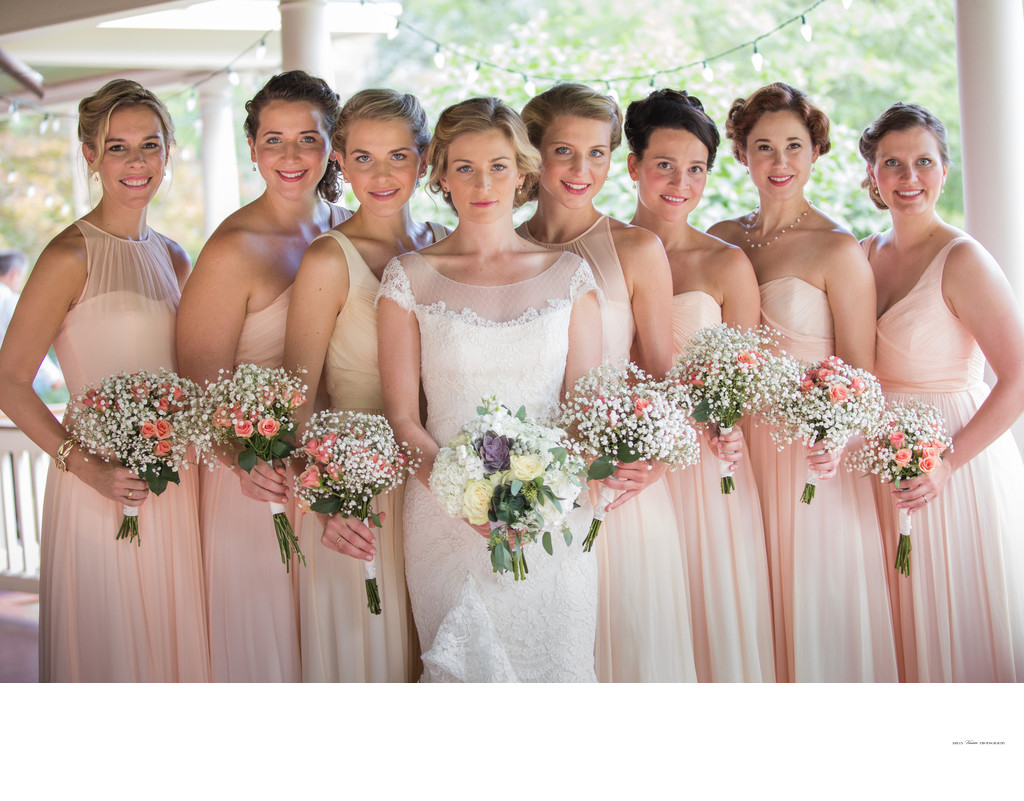 Highlands Country Club Wedding | beautiful bridesmaids