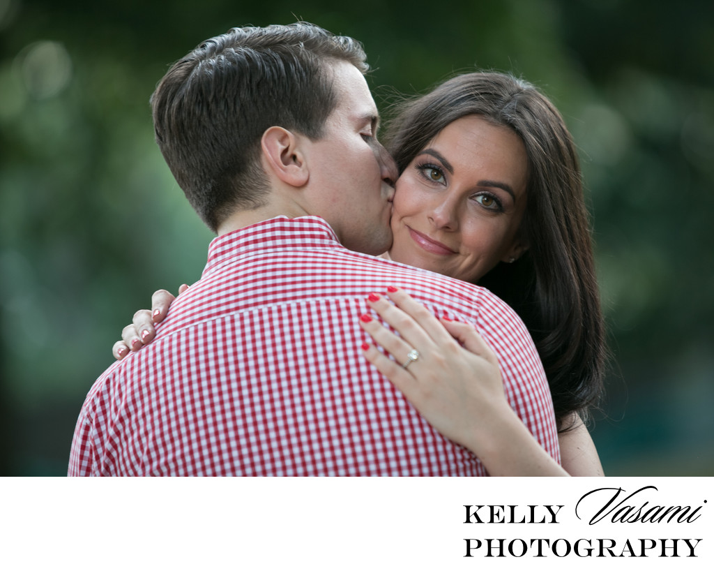 Engagement Session | Red Nails and Gingham | NYC