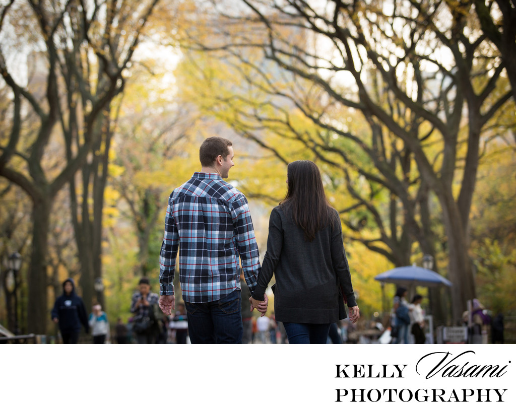 Autumn in New York Engagement Session | Central Park