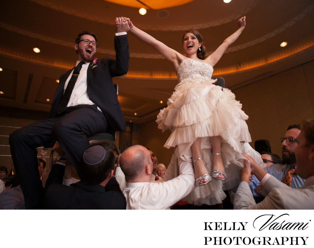 The Hora | Bride and Groom Jewish Wedding Reception