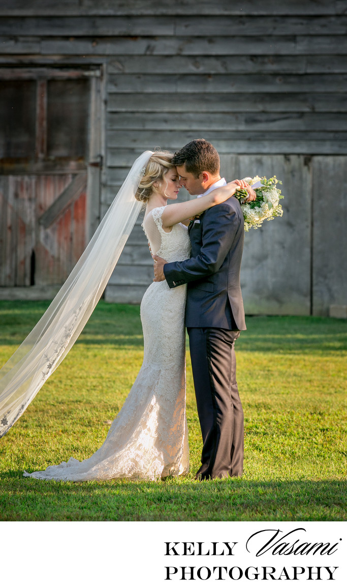 Highlands Country Club Wedding | Bride & Groom at Barn