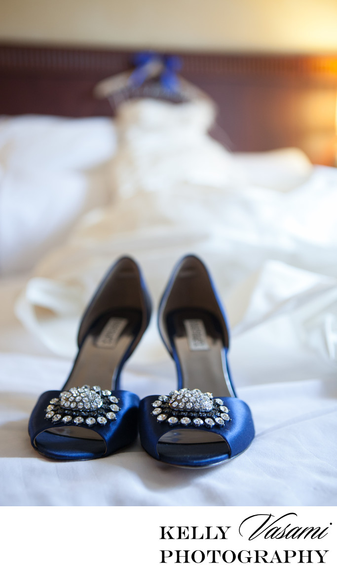 Badgley Mischka Blue Wedding Shoes | Wedding Dress