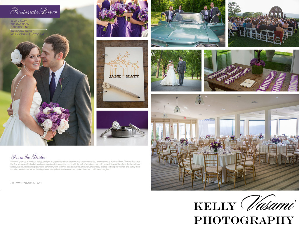 Purple Wedding at The Garrison | published in magazine