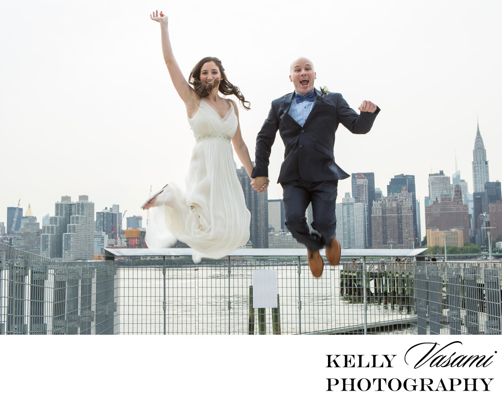 manhattan skyline wedding photos