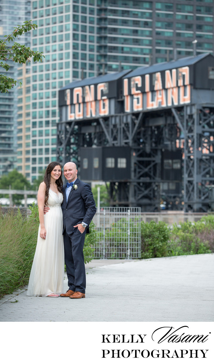 Long Island City Sign | Wedding Couple Photos