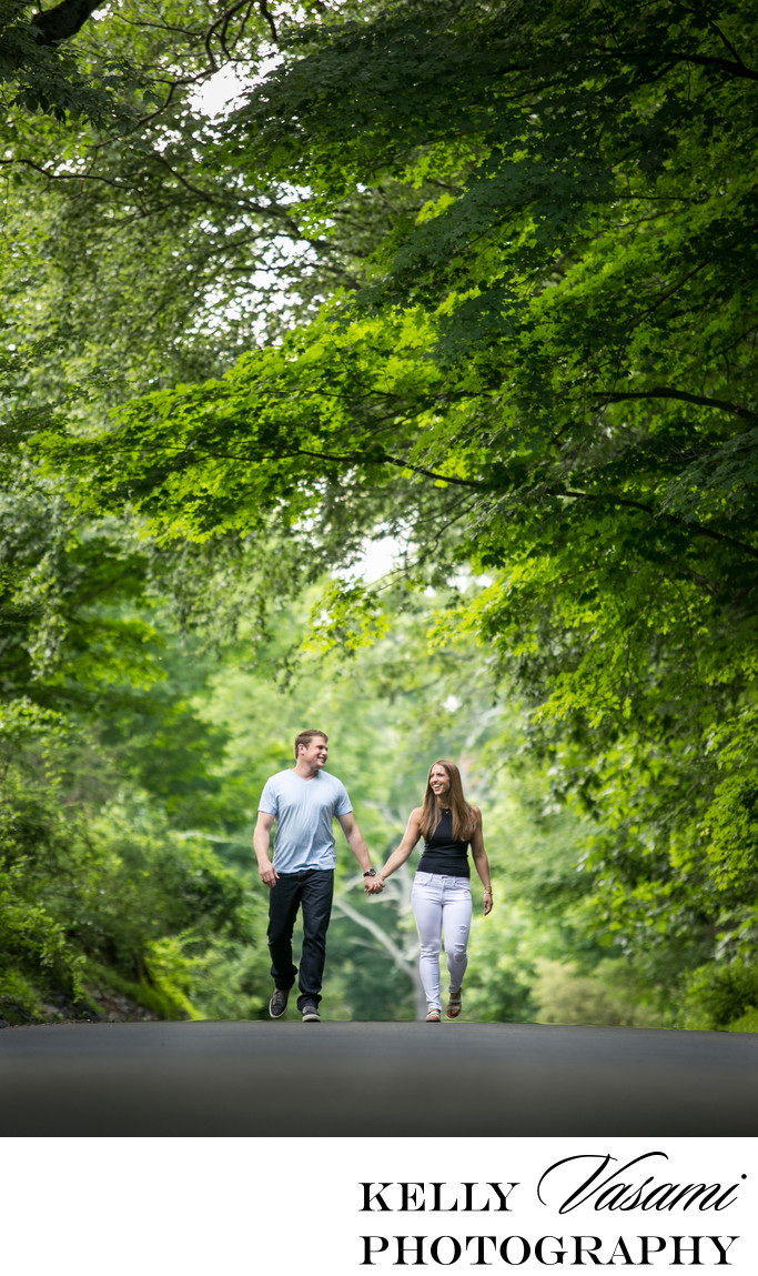engagement session westchester ward pound ridge