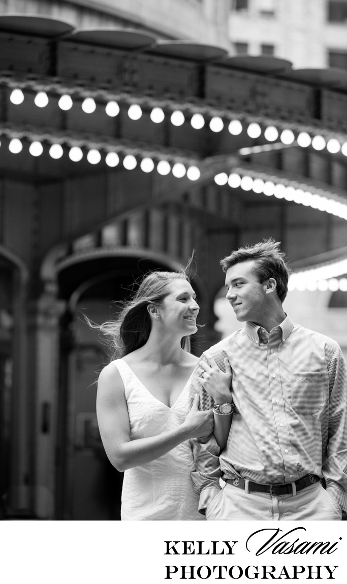 Lights outside Grand Central | NYC Engagement Session