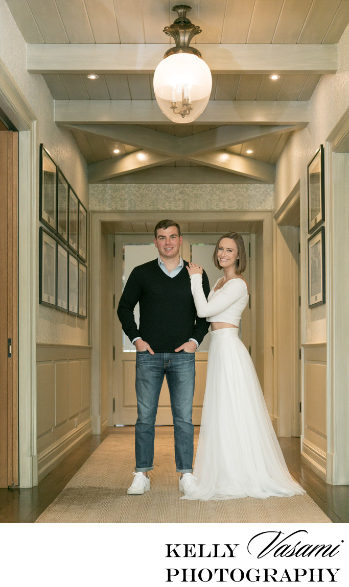 Interior of Round Hill Golf Club Engagement Photos