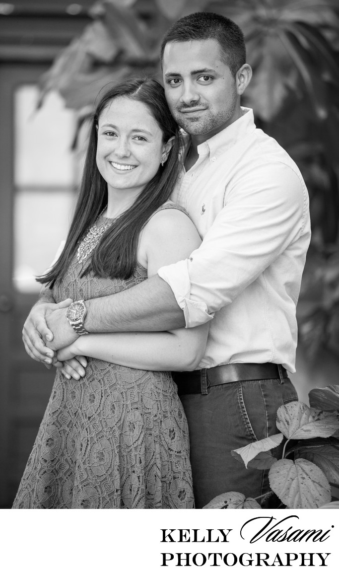 Engaged Couple Embraces during Engagement session