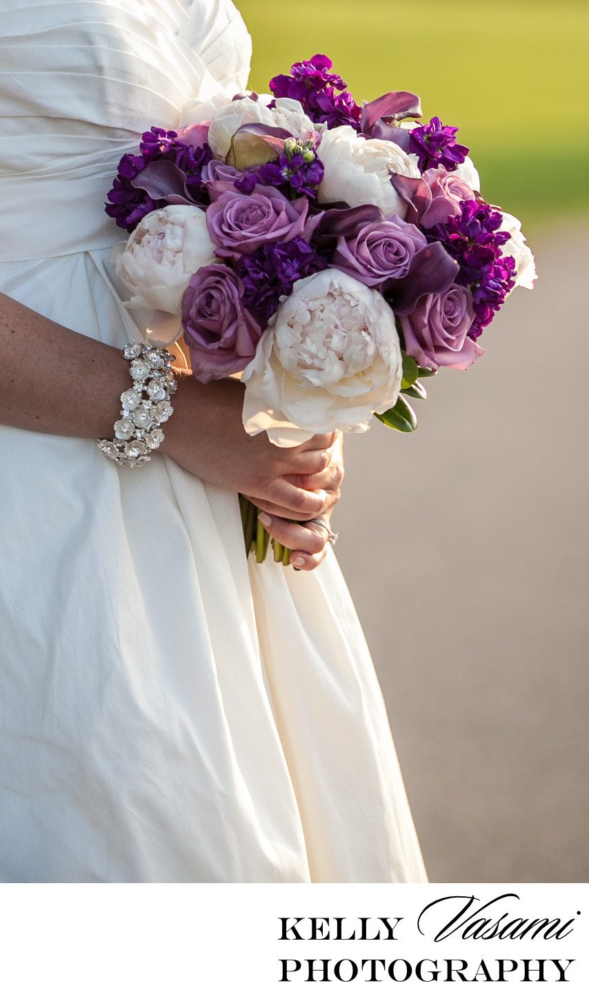 peonies purple roses calla lily wedding flowers